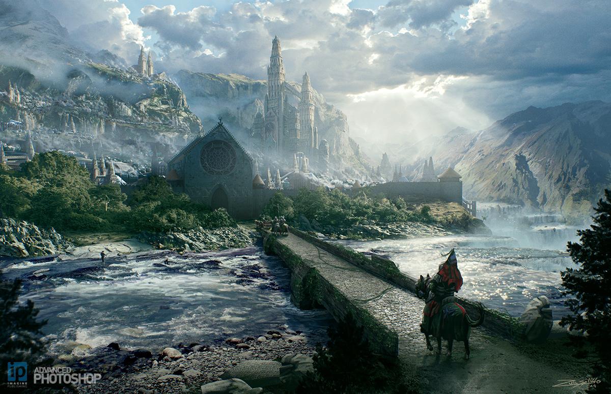 Epic Fantasy Landscape Concept by ZuluSplitter