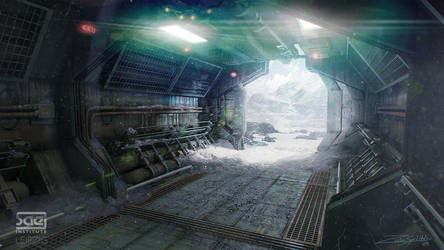 Cold Corridor by ZuluSplitter