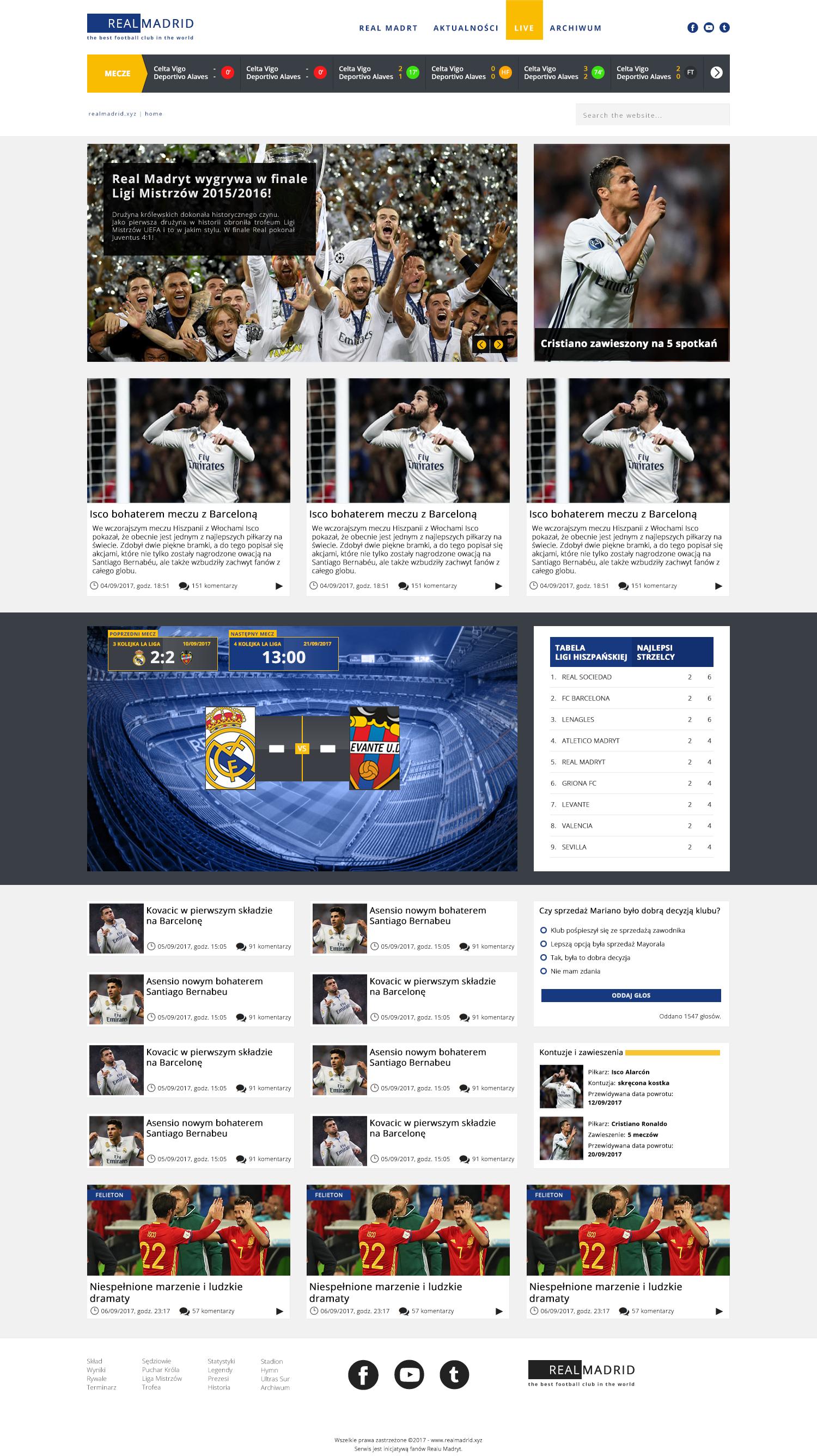 Real Madrid's Polish Web Site