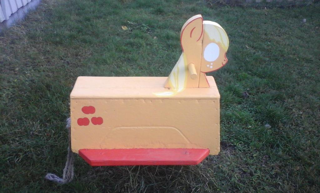 Applejack - The park rocking horse by IronwoodAKACleanser