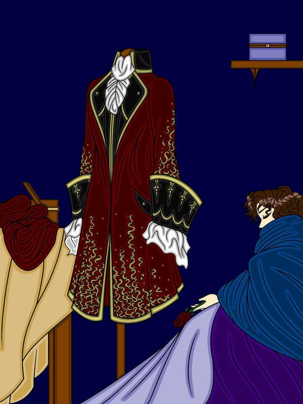 A Coat of Crimson Velvet... by RivisIndigoEmporium