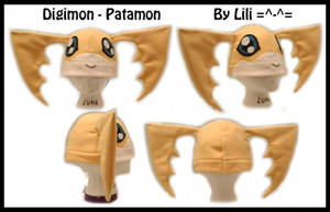Patamon Fleece Hat by LiliNeko