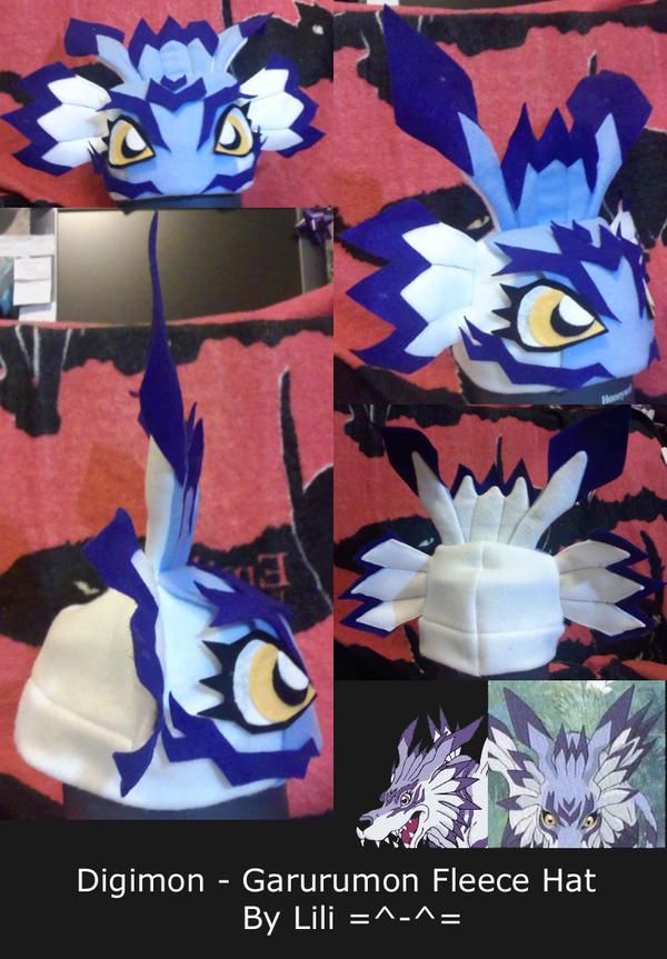 Garurumon Fleece Hat by LiliNeko
