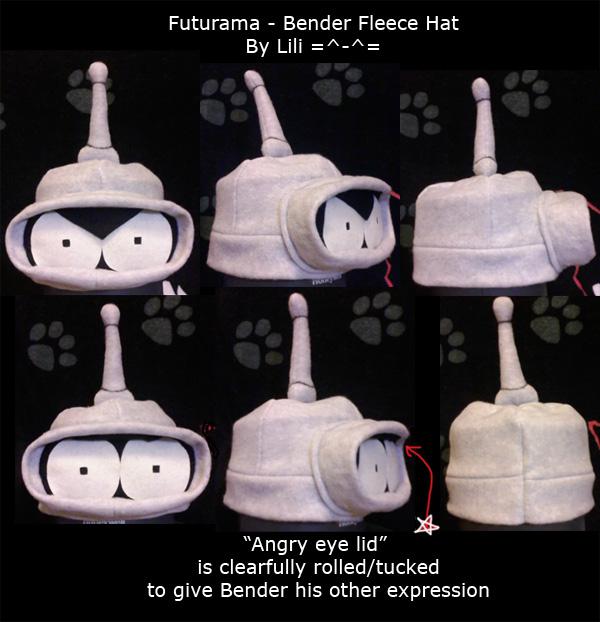 Bender Fleece Hat by LiliNeko