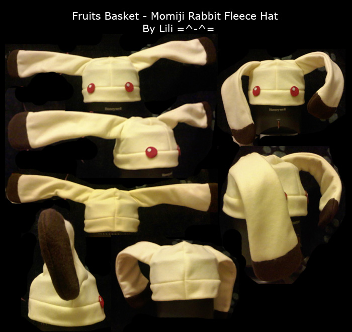 Momiji Rabbit Fleece Hat by LiliNeko