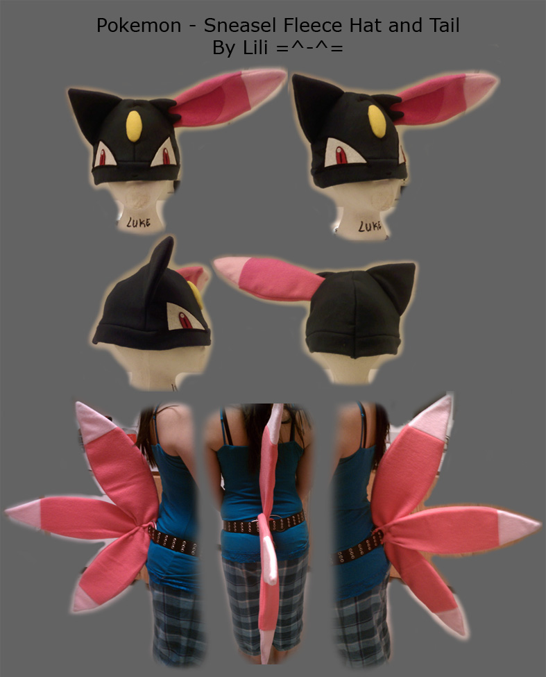 Sneasel Hat and Tail by LiliNeko