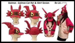 Guilmon Hat and Shirt Cosplay