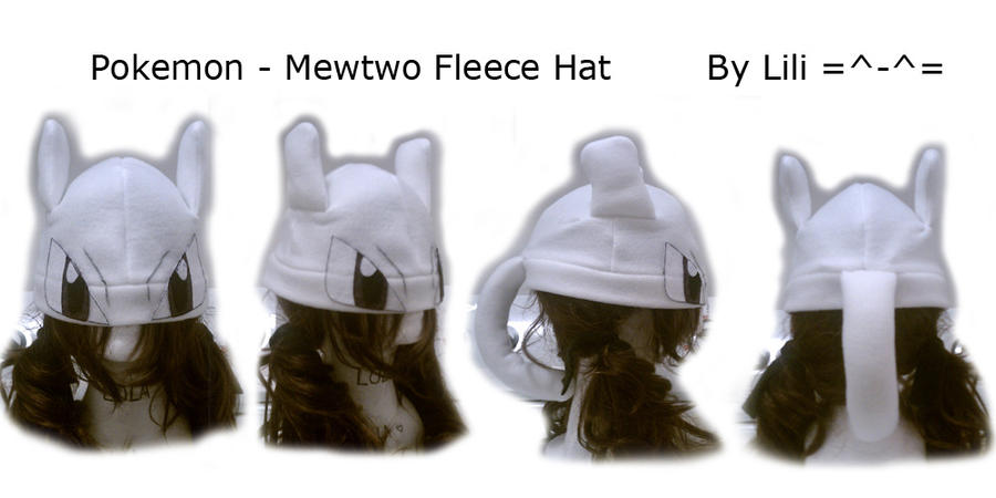 Mewtwo Hat by LiliNeko