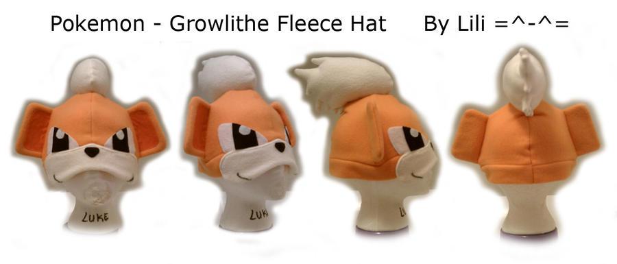 1st Gen - Growlithe Hat by LiliNeko