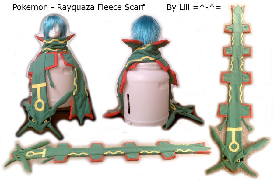 Rayquaza Fleece Scarf by LiliNeko