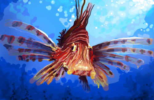 Speedpainting 030725 - Fish by bm