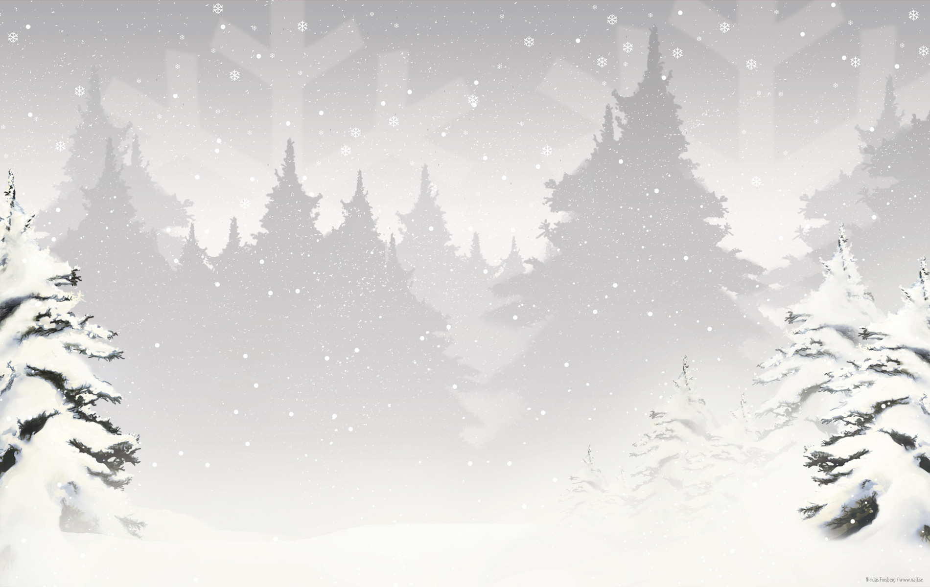 Xmas Wallpaper 08 - White by bm