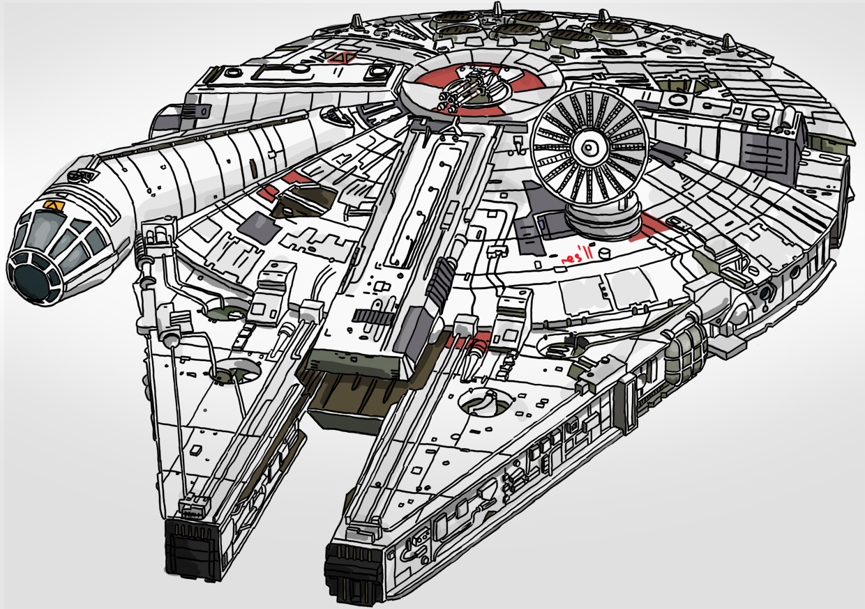 sci fi set 3 - millenium falcon by resresres on deviantart  deviantart