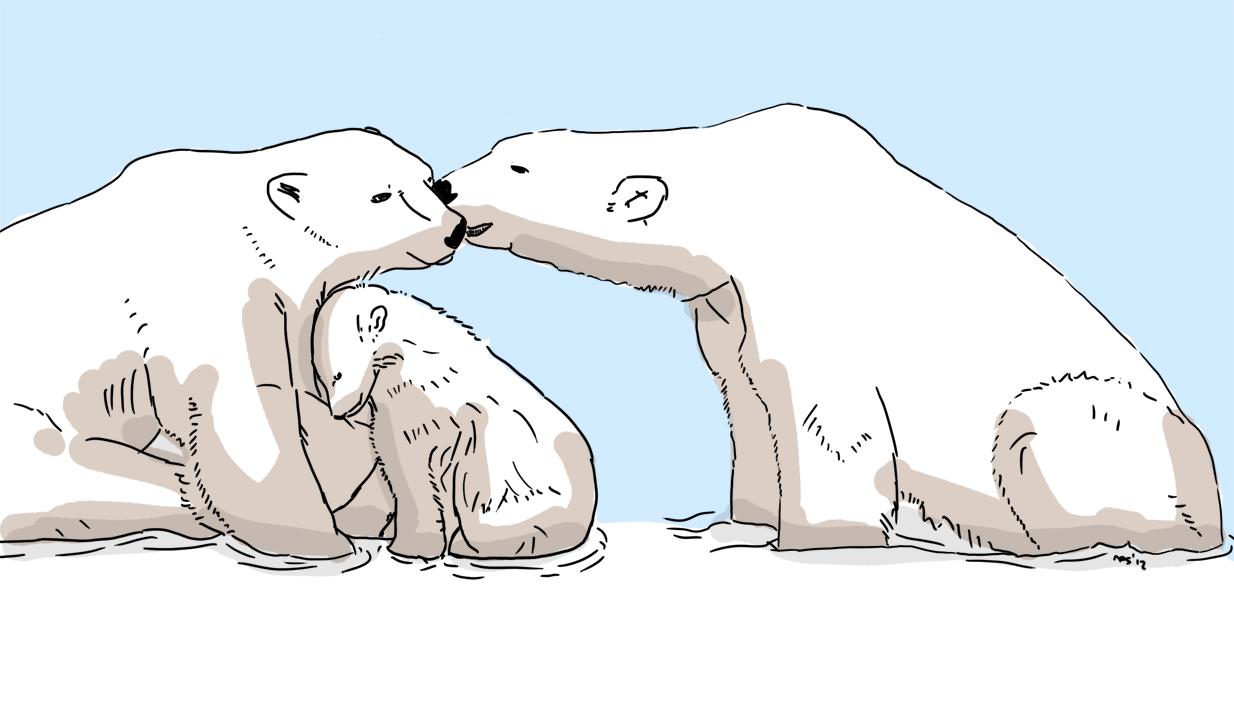 animal friends 2 polar bear family by resresres on deviantart
