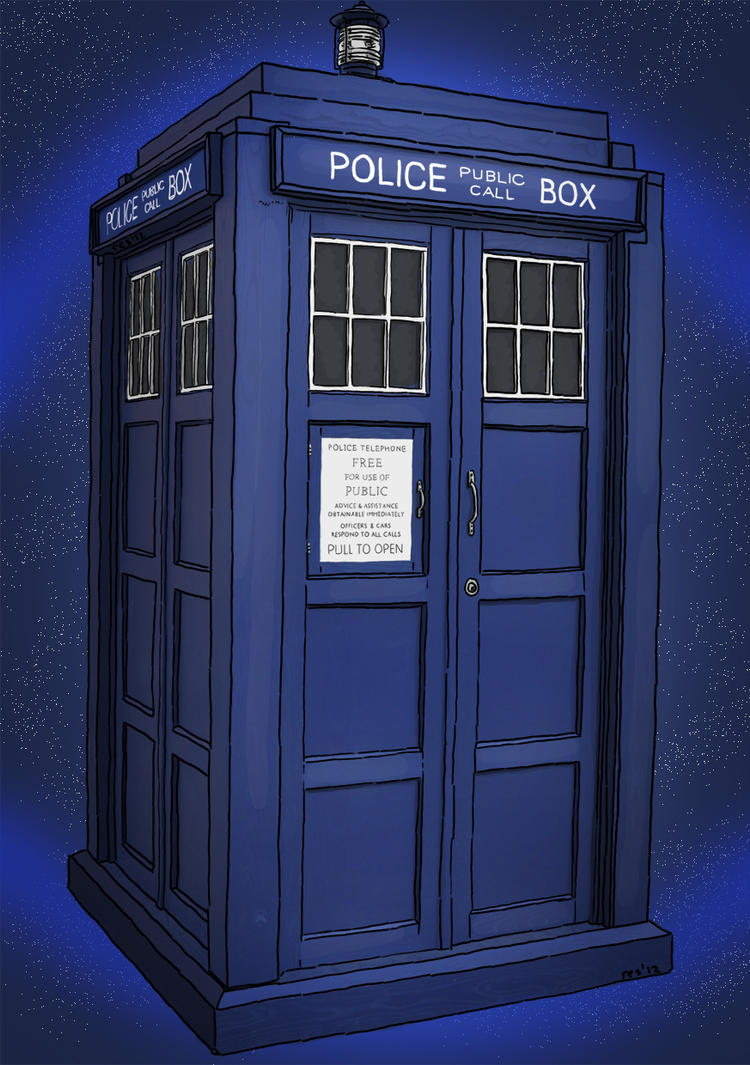 Sci Fi Set 10 - The Tardis by resresres