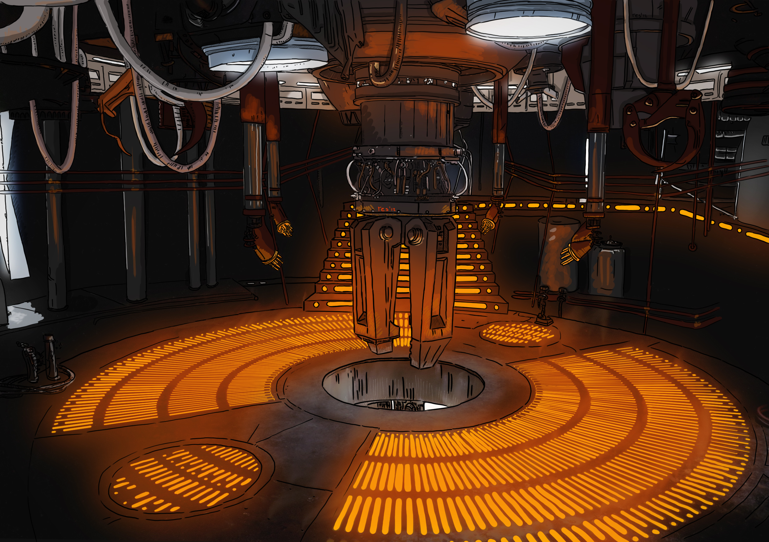 Sci Fi Set 14 Star Wars Carbon Freezing Chamber By