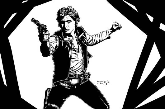 BW Ink Style - Han Solo