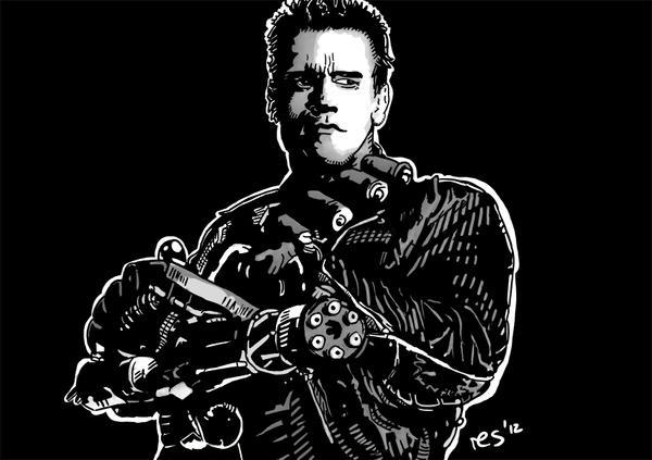 Terminator 2 - Minigun Scene by resresres