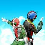 kamenriderv3 and riderman