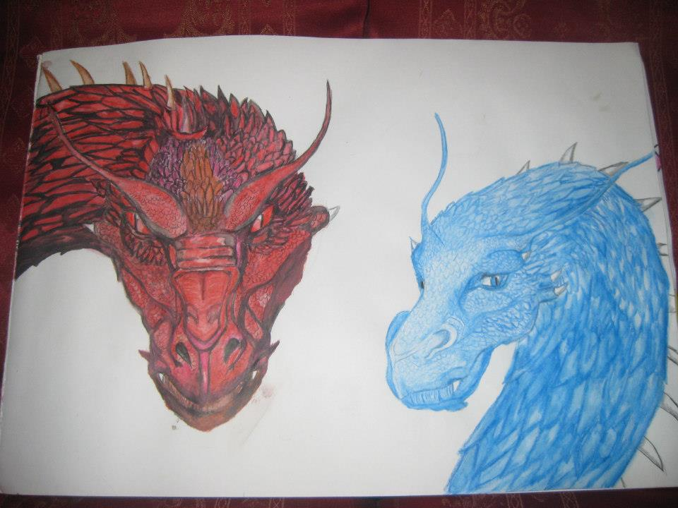 Eragon Book Cover Art : Eragon and eldest s two book covers p by drawwriteread on