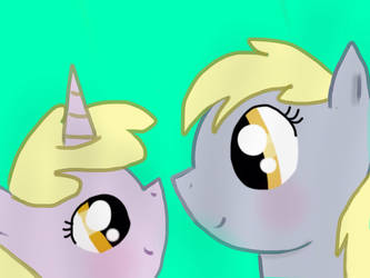I draw Dinky and Derpy this time...
