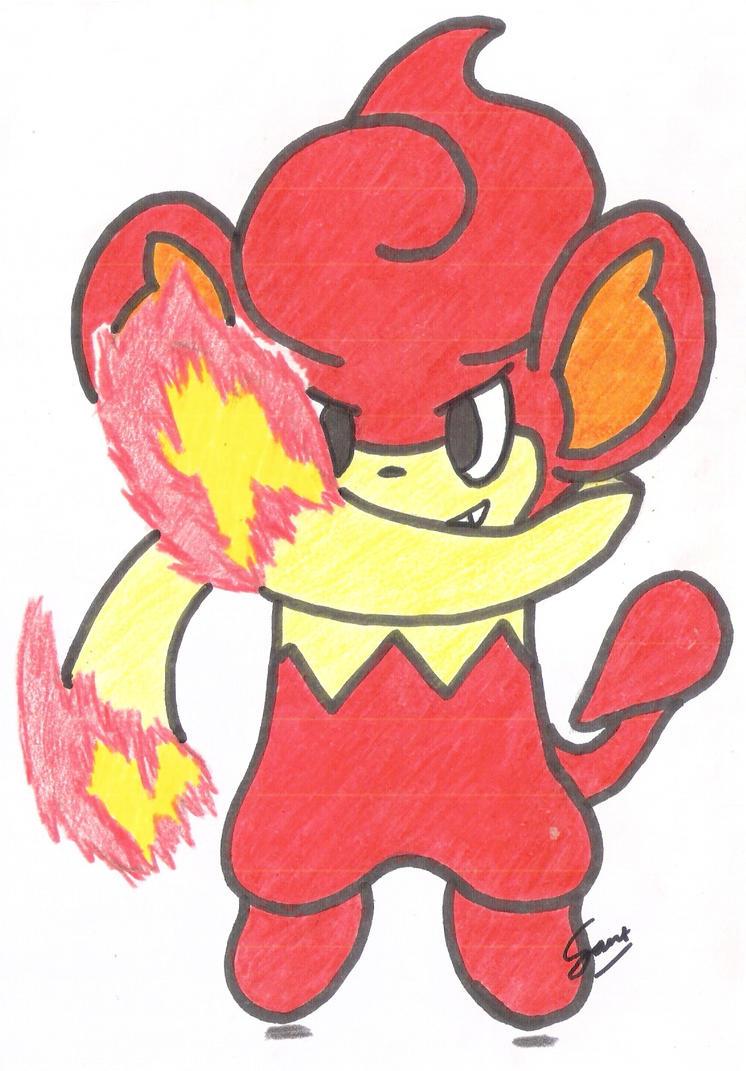 Pokemon: Pansear by TreeGecko
