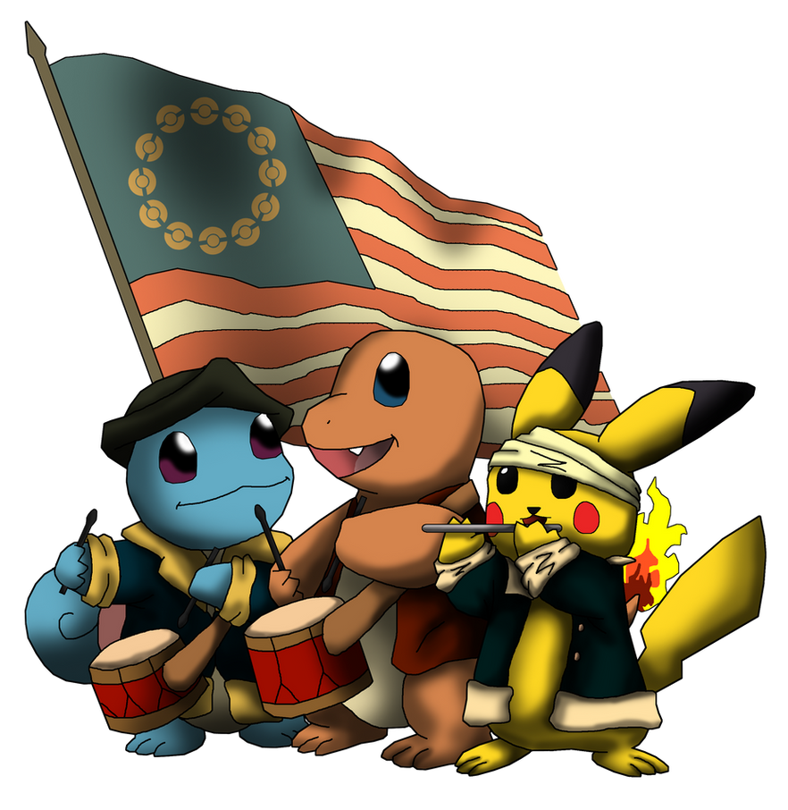 Patriotic Pokemon by Yatagarasu-san