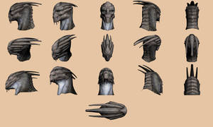 Turian Head - Model Reference