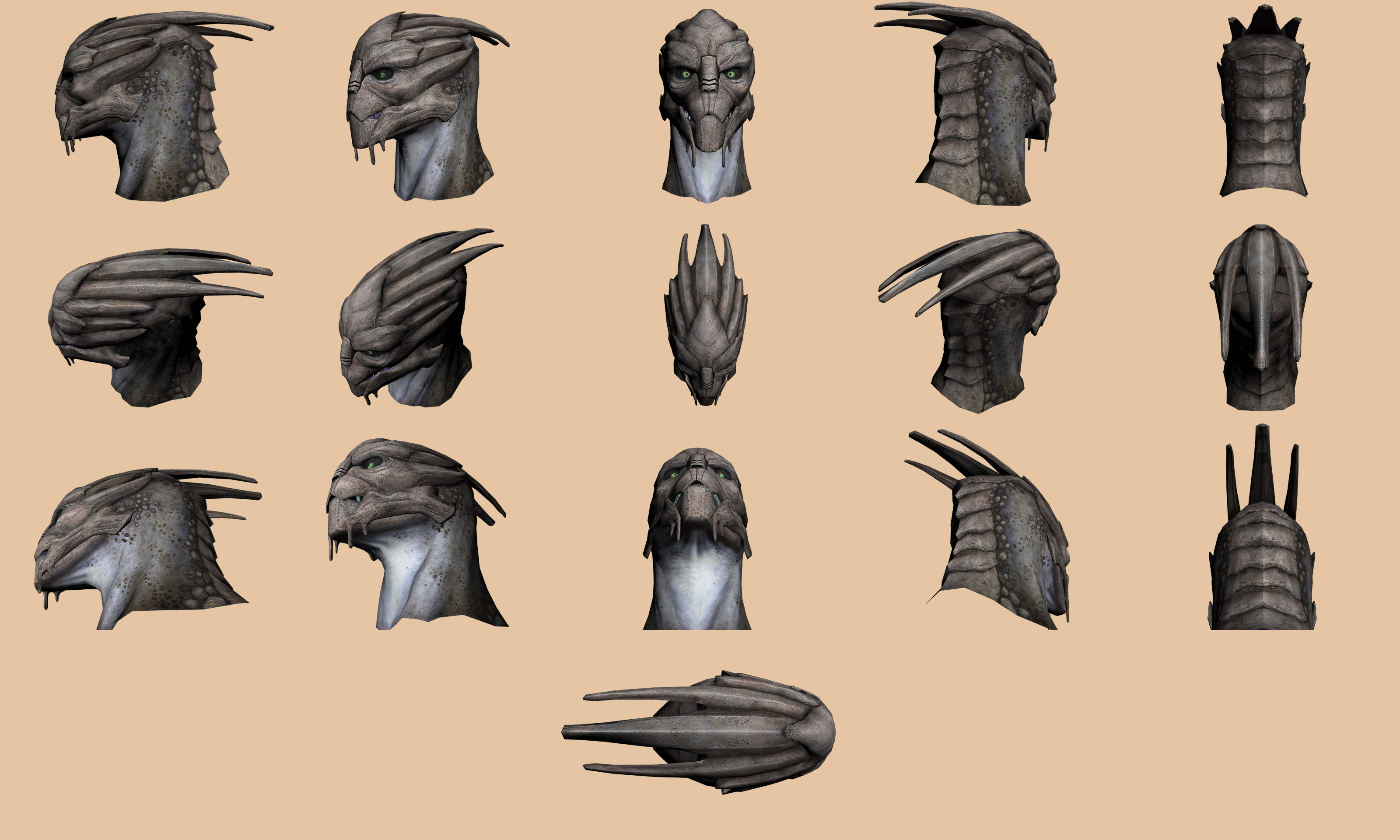 Gallery images and information: Turian Anatomy