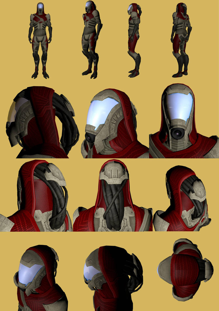 Male Quarian Reference by Troodon80
