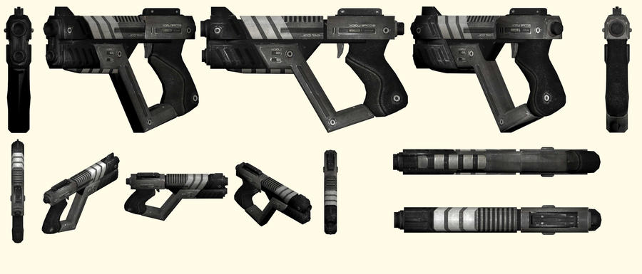 Mass Effect 2, M4-Shuriken SMG Reference by Troodon80