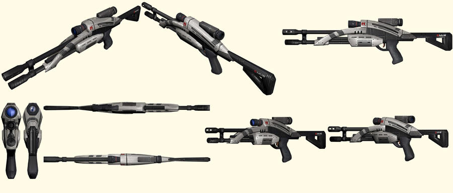 Mass Effect 2, M-92 Mantis Sniper Rifle Reference by Troodon80