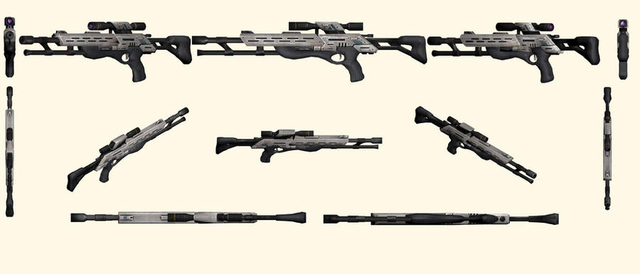 Mass Effect 2, M-97 Viper Sniper Rifle Reference by Troodon80
