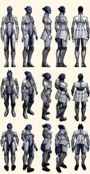 Mass Effect 2, Liara - Model Reference.