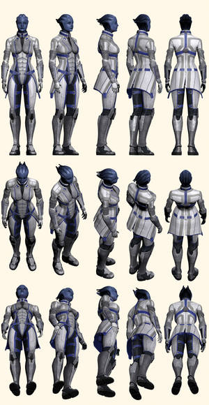 Mass Effect 2, Liara - Model Reference.