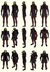 Mass Effect 2, Thane - Model Reference.