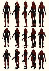 Mass Effect 2, Kasumi - Model Reference.