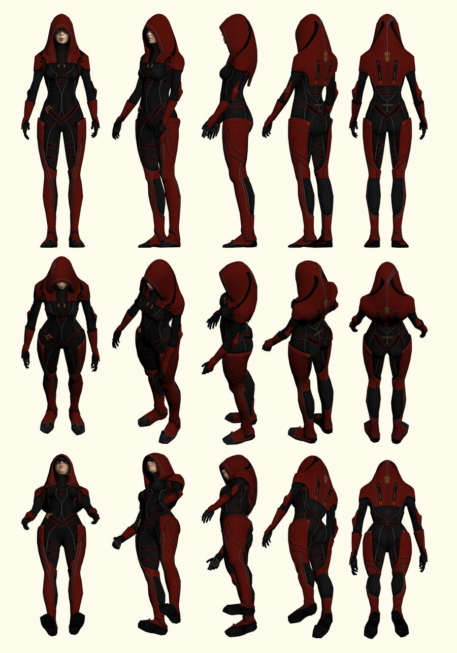 Mass Effect 2, Kasumi - Model Reference. by Troodon80