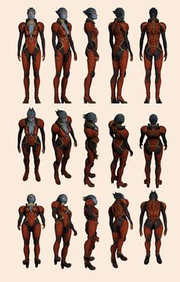 Mass Effect 2, Samara - Model Reference.