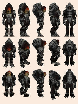 Mass Effect 2, Wrex - Model Reference.