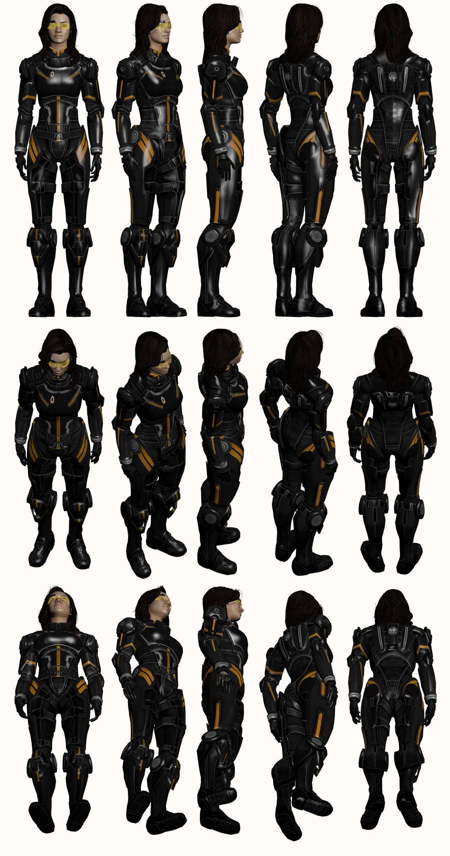 Mass Effect 2, Miranda AA - Model Reference. by Troodon80