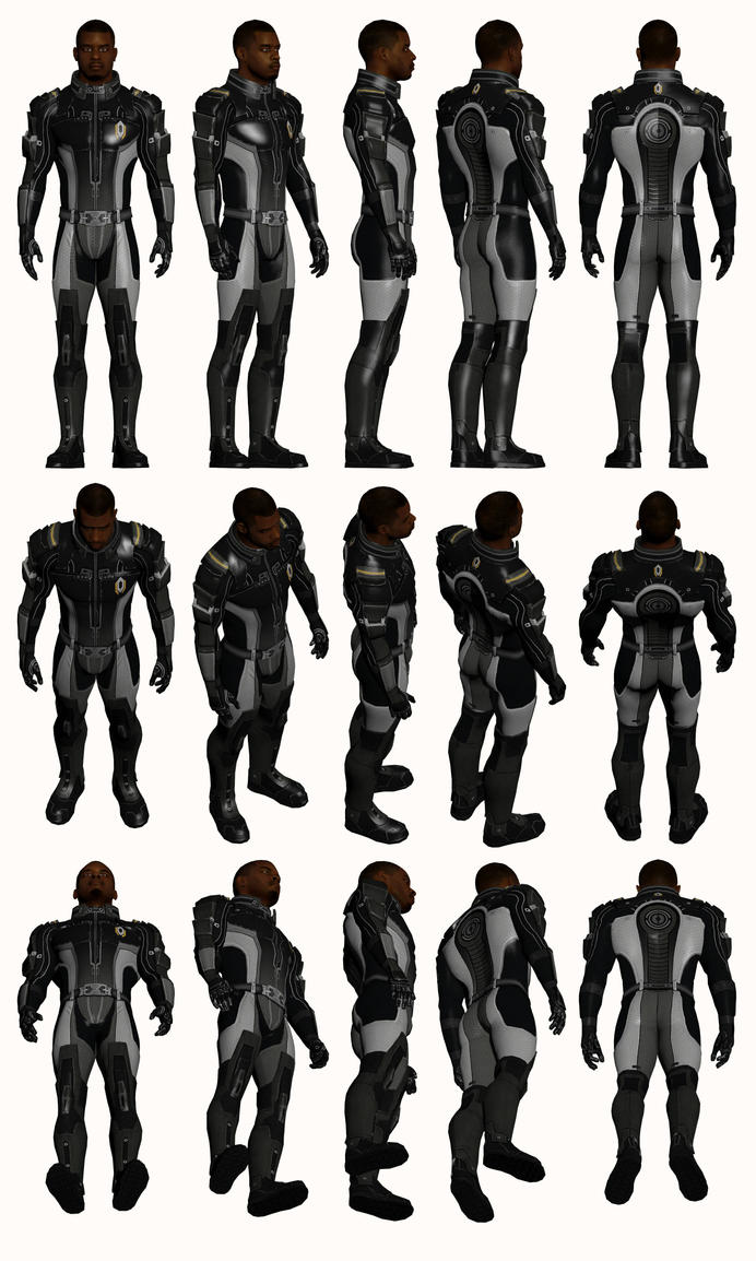 Mass Effect 2, Jacob - Model Reference. by Troodon80