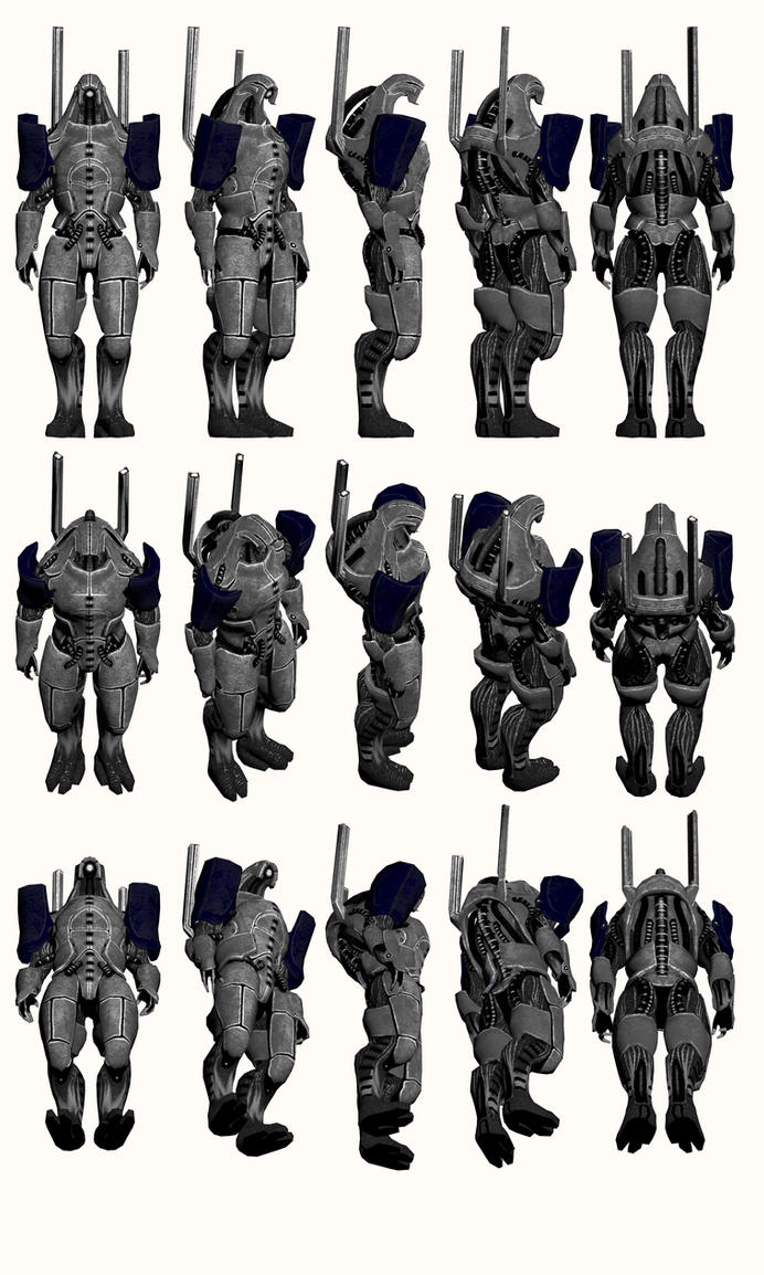 Mass Effect 2, Geth Prime - Model Reference. by Troodon80
