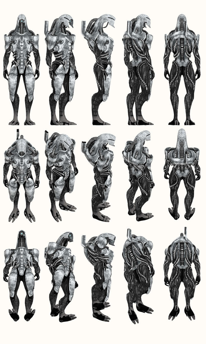 Mass Effect 2, Geth Trooper - Model Reference. by Troodon80