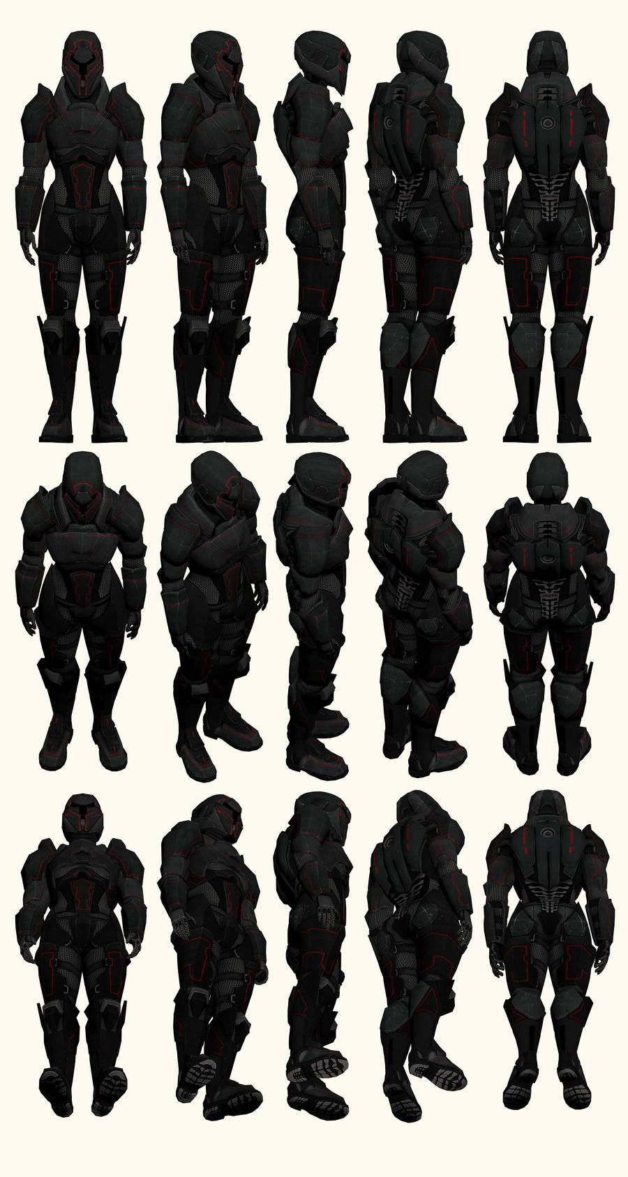 Mass Effect 2, Female Shepard Terminus Armour Ref by Troodon80