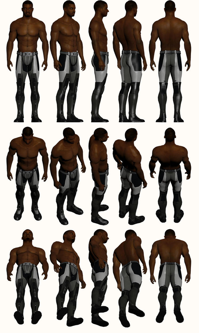 Mass Effect 2, Jacob Topless - Model Reference. by Troodon80