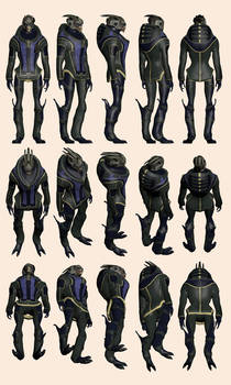 Mass Effect 2, Garrus Casual - Model Reference.