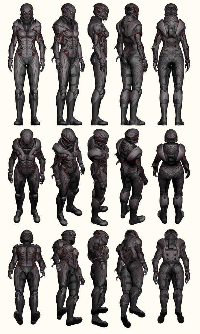 Mass Effect 2, Female Shepard Collector Armour Ref by Troodon80