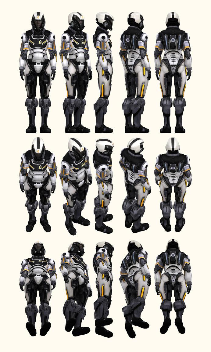 Mass Effect 2, Female Shepard Cerberus Armour Ref by Troodon80