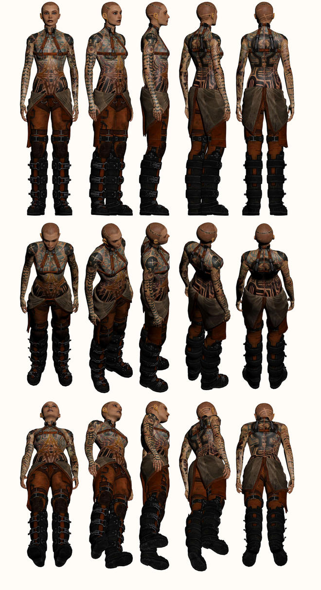 Mass Effect 2, Jack - Model Reference. by Troodon80